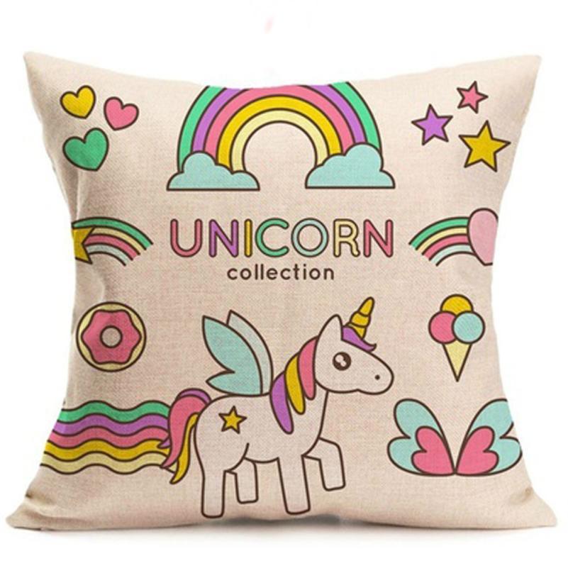 Drop Shipping Unicorn Cushion Cover Mermaid Pillows cover For Sofa Reversible Decorative Pillowcase Home Decor fundas cojin