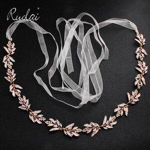 Image 1 - כסף ריינסטון חתונת חגורת אבנט כלה זהב קריסטל סרט חגורת Sashes חגורת יהלומי חתונת קישוט WS J043