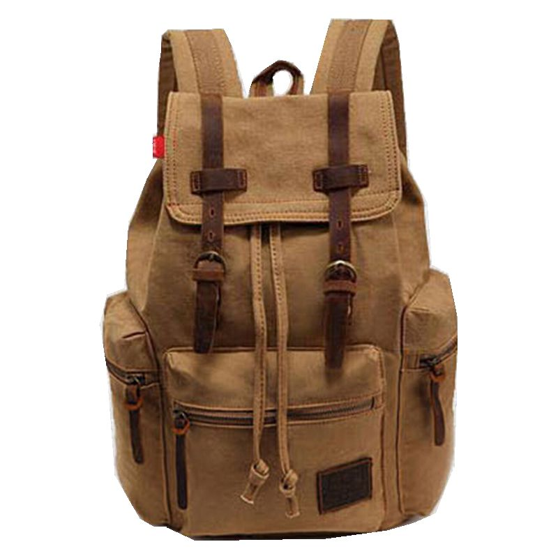 2015 New Casual Canvas Men Backpack Retro Vintage Male Students School Bags  Man Shoulder Bags High Quality Backpacks women canvas stripe shoulder bags casual capcity multifunction backpack students school bags