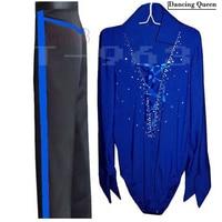 Men/Boy Latin Dance Dress 5 Colors Mens Latin Shirts&Pants For Dance Cha Cha/Rumba/Samba/Ballroom Dancewear Male Fitness Clothes