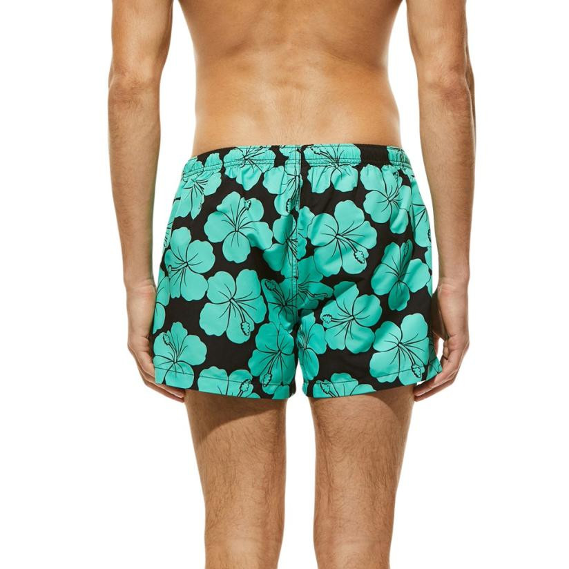 ac034a206796b Men Breathable Trunks Pants Color Flower Print Swimwear Beach Shorts Slim  Wear Shorts Swim Trunks Swimming Surf Banadores mayo -in Body Suits from  Sports ...