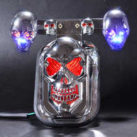 High Quality New 1PC 12V 5W Motorcycle Skull Turn Signal Rear Brake Tail Light Motorcycle taillight Red and Blue Color Light