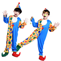 Бесплатная доставка Хэллоуин детский костюм клоуна маскарад производительности одежда стадии циркового клоуна комедии костюм Мальчик Косплей