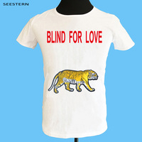 Seestern brand letter blind for love stamp applique embroidery tiger snake men t shirt hip hop fashion new spring summer tops