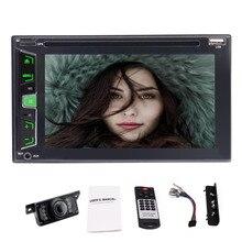 """Cámara de reserva como + coche estéreo en el tablero no GPS doble DIN 6.2 """"vehículo Radios headunit 1080 p vídeo DVD/CD Bluetooth + Control remoto"""