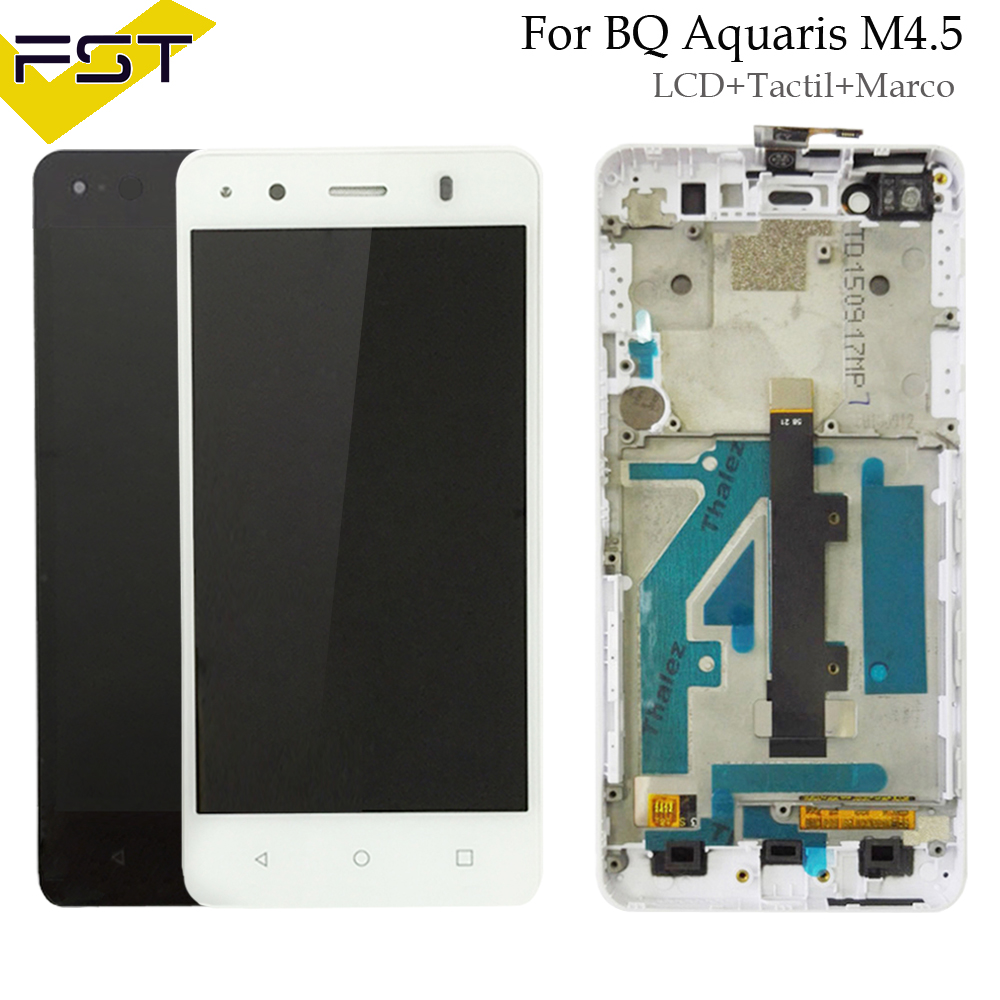 Black/White For BQ Aquaris M4.5 LCD Display+Touch Screen Digitizer Assembly With Frame For BQ M4.5 LCD Pantalla Tactil Con MarcoBlack/White For BQ Aquaris M4.5 LCD Display+Touch Screen Digitizer Assembly With Frame For BQ M4.5 LCD Pantalla Tactil Con Marco