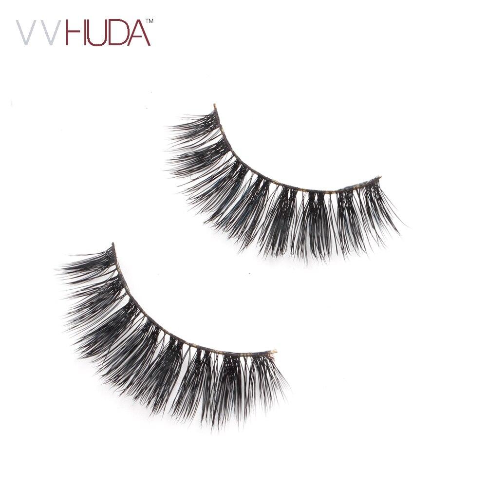 b78d6a31c14 VVHUDA 3D Mink Lash False Eyelashes Hand made Long Thick Voluminous Fake  Lashes Collection Natural Fiber Extension Medium Volume-in False Eyelashes  from ...