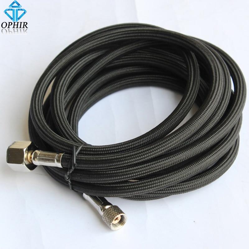 OPHIR 3M Nylon Braided AIR HOSE 1/8-1/4 for Air Brush-Compressor Airbrush Accesories # AC037