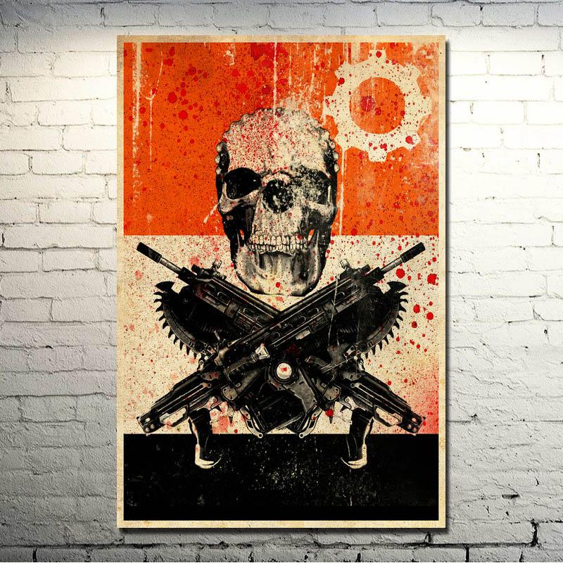 Gears of War 3 4 Art Silk Stampa Poster 13x20 20x30 pollici Hot Military Gioco di Tiro Immagini For Living Room Decor 007