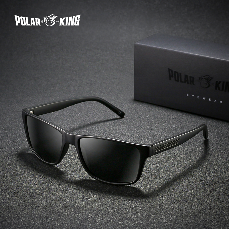 POLARKING Brand Classic Square Plastic Polarized Men Sunglasses Oculos de sol Men's Sun Glasses Driving Fishing Plastic Eyewear