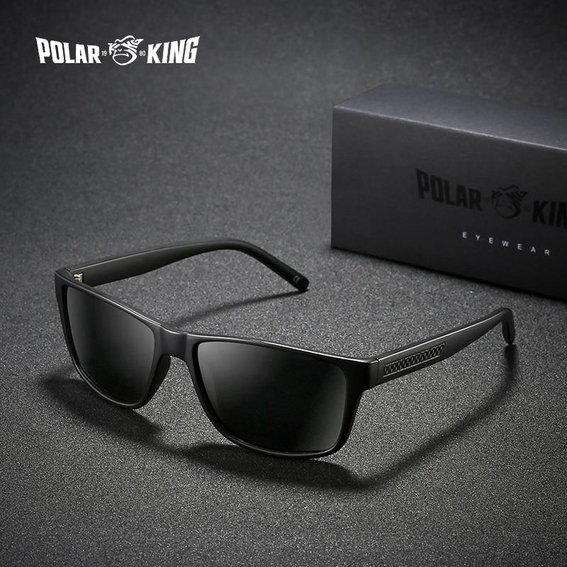 POLARKING Brand Classic Square Plastic Polarized Mes