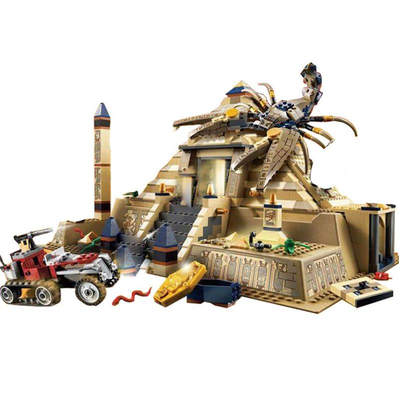 doinbby 822Pcs Egypt Pharaoh Series The Scorpion Pyramid Building Blocks Bricks Toys Model Compatible with Legoings 7327