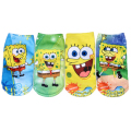 Girls Boys Cartoon Spongebob Print Socks Children Socks 12Pairs/lot Length 18cm(7'') or 15cm(6'') Warm Kids Girls Short Socks