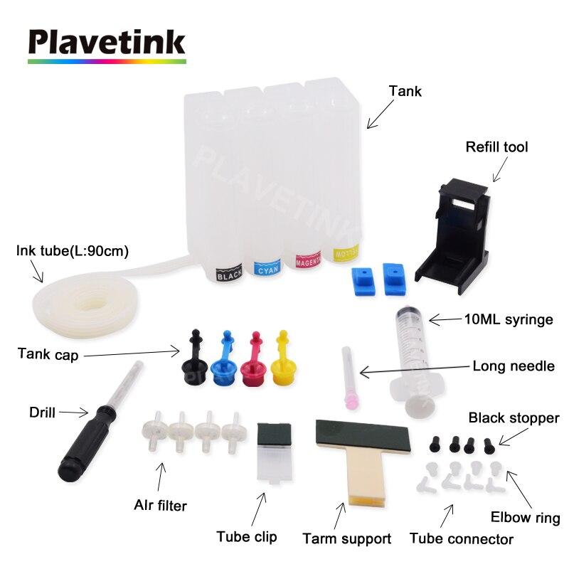 plavetink 4 cor universal diy ciss tanque de tinta para canon 445 446 pg445 cl446 pg