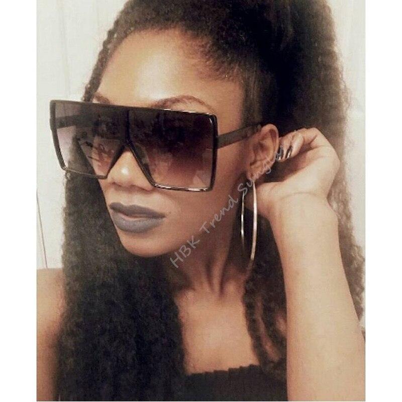 35a0663a158b Aliexpress.com : Buy HBK 2018 Sexy Oversized Pilot Sunglasses Women Shades  Retro Brand Designer Sun Glasses For Female Ladies Black Eyewear Oculos  from ...