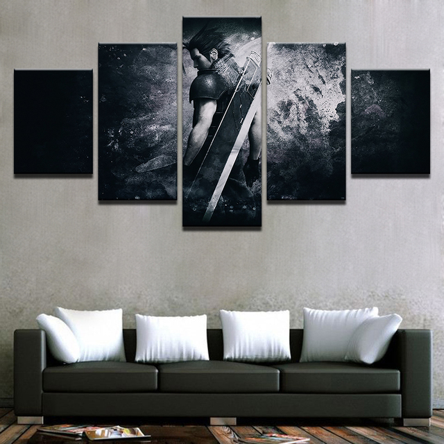 Canvas Modern Frame Home Decor Wall Art Poster 5 Panel Game Final Fantasy Character Living Room Modular Print Pictures Painting 2