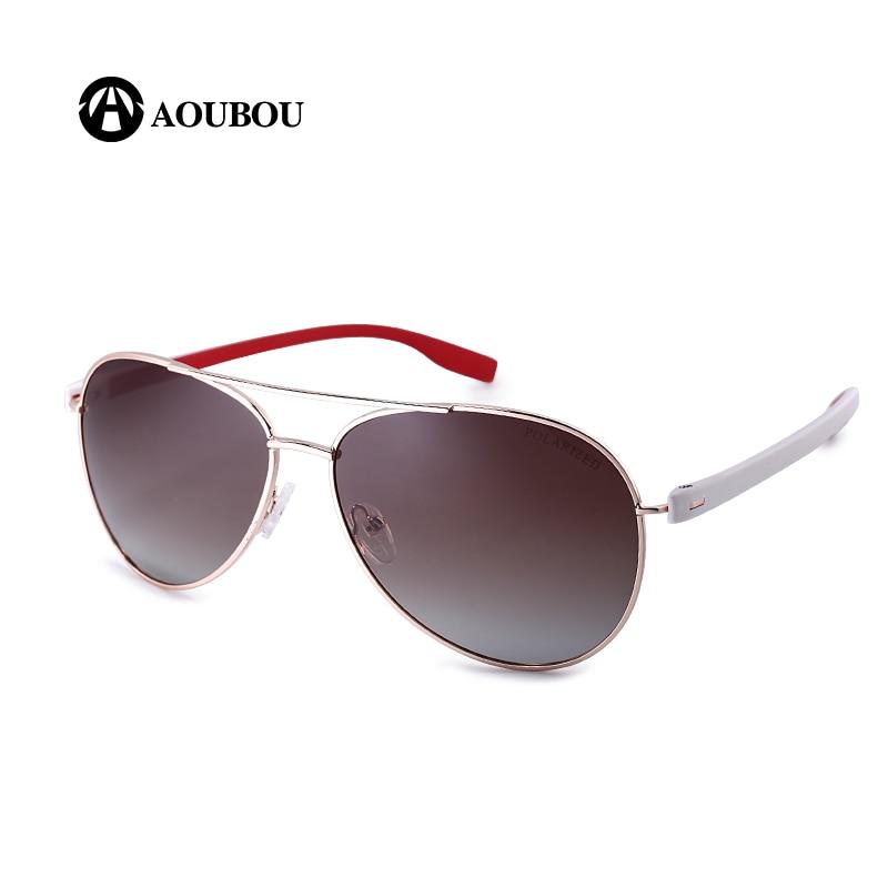 Reka Bentuk Jenama AOUBOU Hot Sale Polarzed Pilot Sunglasses Men - Aksesori pakaian - Foto 4