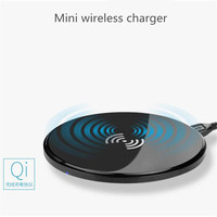 Hot Mini Qi Wireless Charger USB Charge Pad For IPhone X 8 Plus Samsung Galaxy S8