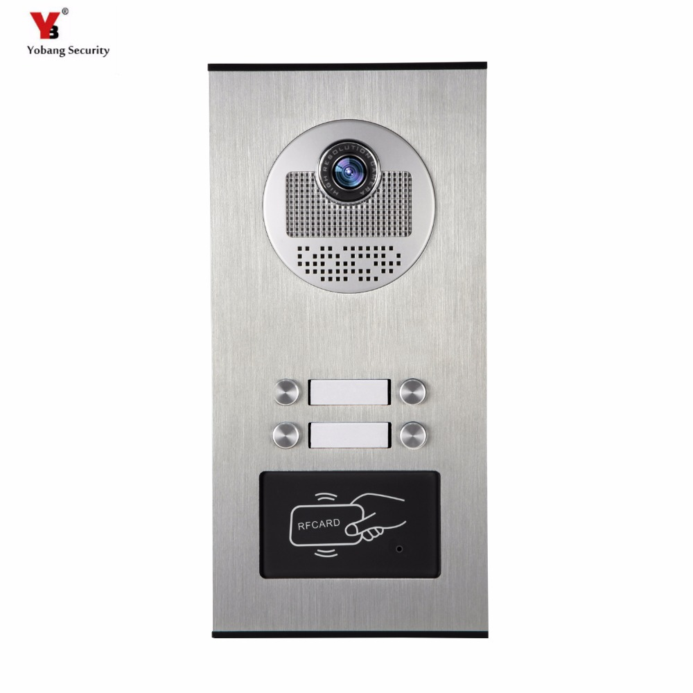 Yobang Security 4 Units Apartment Video Intercom Video Door Phone Outdoor DoorBell IR Camera With Night Vision Can Reader CardYobang Security 4 Units Apartment Video Intercom Video Door Phone Outdoor DoorBell IR Camera With Night Vision Can Reader Card