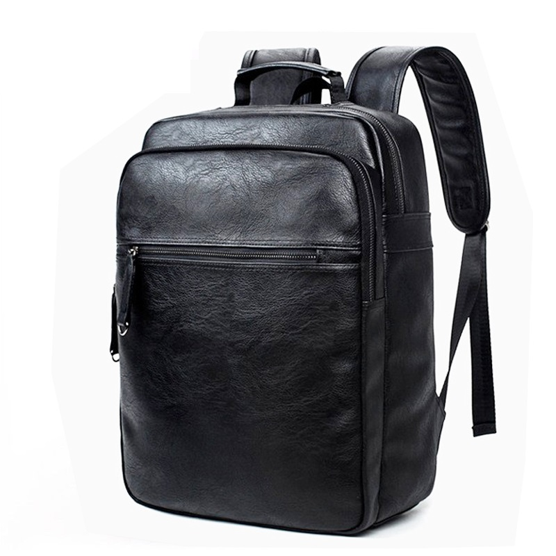 Luxury Brand Bookbags Men Backpack Leather Male Functional Bags Men - Backpacks