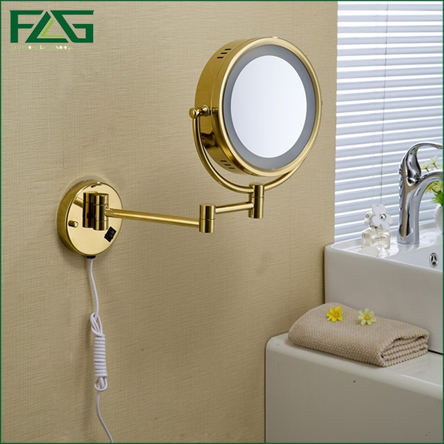 Golden Messing LED Licht Make Spiegels 8.5 \