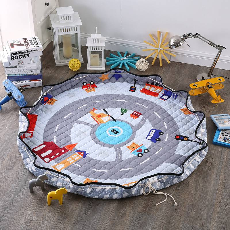 Baby Game Mat Outdoor Picnic Mat for Sit Princess Toy Storage Bag Anti-slip Door Mat Tapis Enfant Floor Mat for Girls