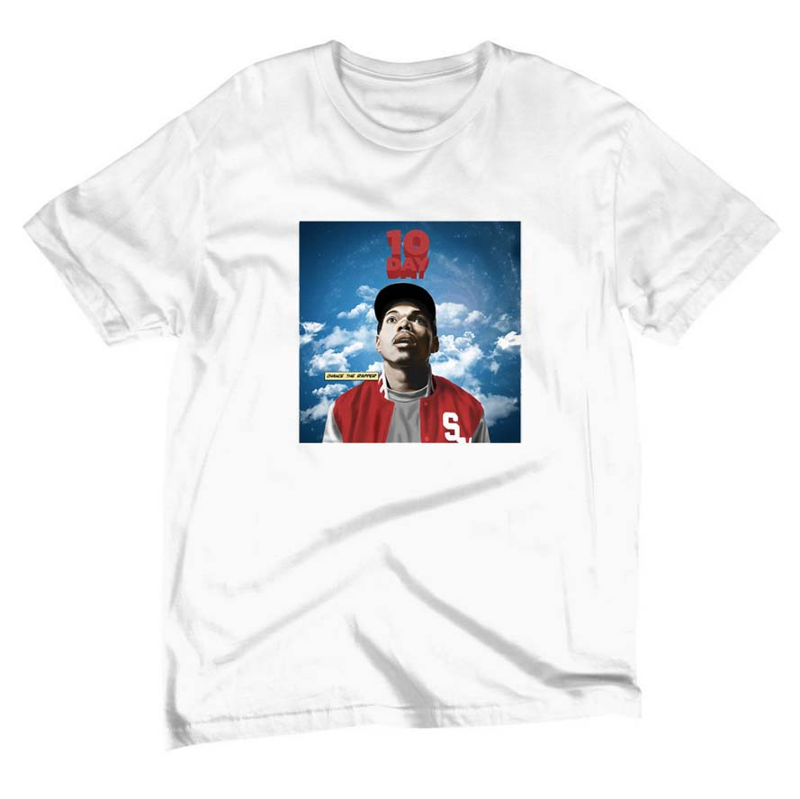 The coloring book chance the rapper tour - Free Shipping Chance The Rapper T Shirt 10 Day Tour 3 Angels New Cotton Leisure