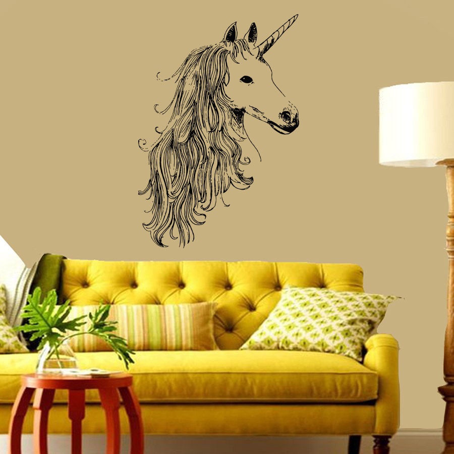 New Real Wall Poster Animals Unicorn Horse Vinyl Sticker Suit ...