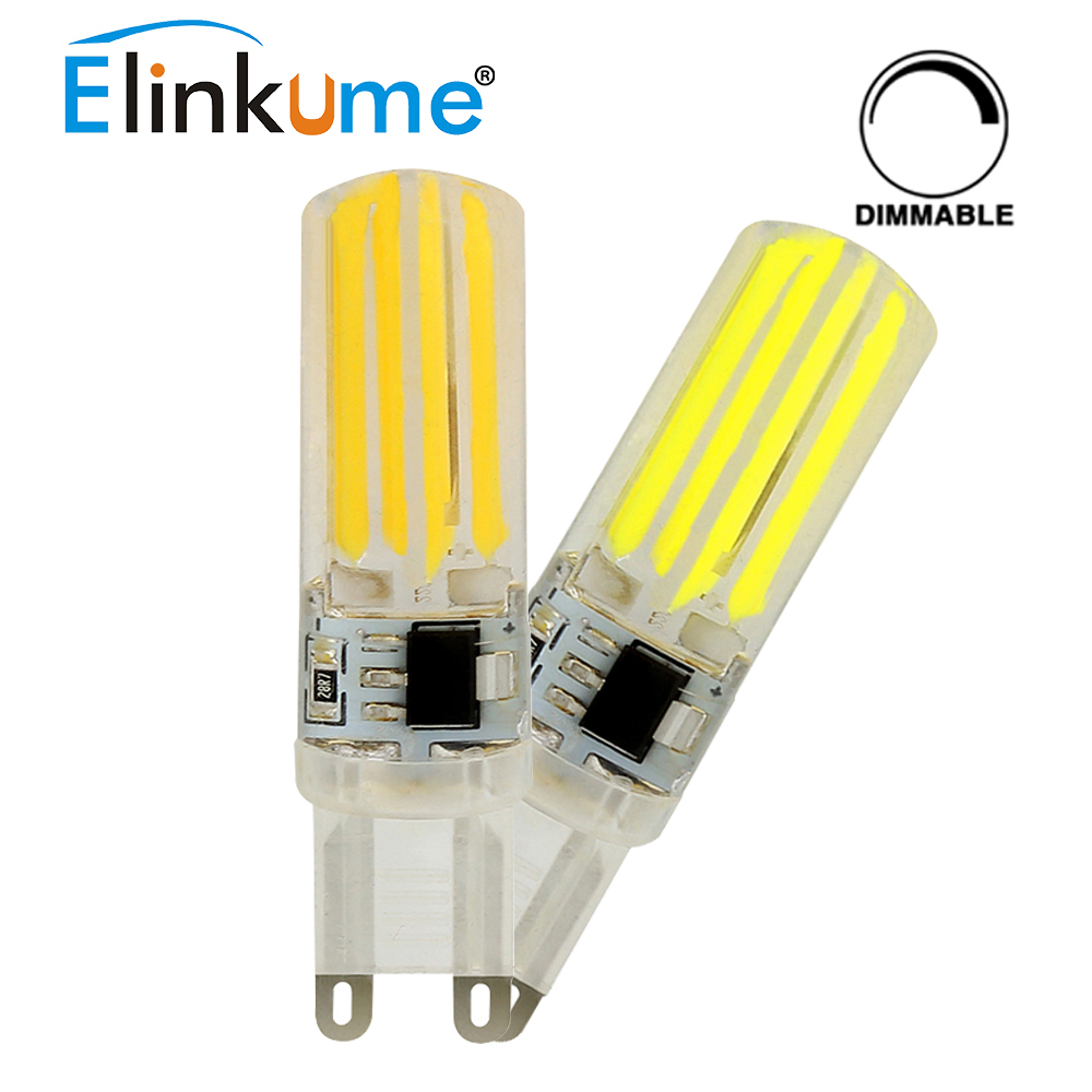 Ampoule Led Dimmable Us 2 17 35 Off Elinkume G9 Led Bulb 5w Dimmable Lamp 4pcs Filament Ac220v Light Energy Saving Ampoule Led For Chandelier Replace Halogen Bulb In Led
