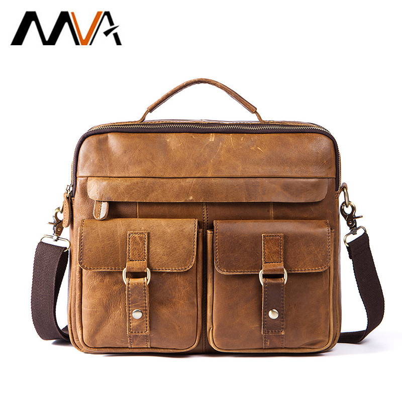 MVA Men Messenger Bags Male Genuine Leather Men Bag Briefcase Men's Shoulder Leather Laptop Bag Crossbody Bags Handbags Tote mva business men briefcase handbags leather laptop bag men messenger bags genuine leather men bag male shoulder bags casual tote