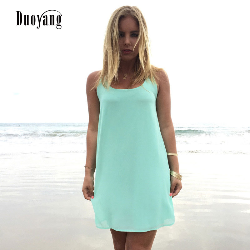 Summer dress 2018 summer style women casual sundress plus size women clothing beach dress chiffon women dress