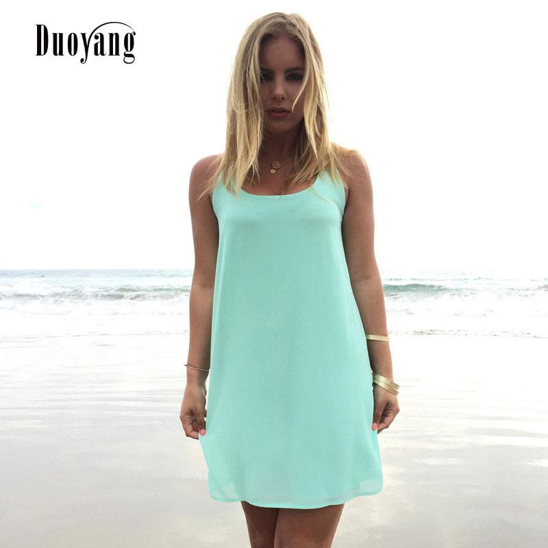 Summer dress 2018 summer style women casual sundress plus size women clothing beach dress chiffon women dress
