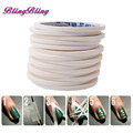 Manicure 3D Creative Nails Stripe Tape Rolls White Tape Stickers Masking Pattern French Nail Art Tips Tool