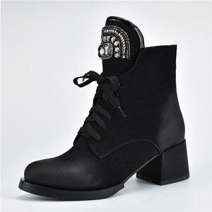 Image 3 - MORAZORA gran oferta botines de mujer con cremallera + cordones botas de invierno otoño moda de cristal zapatos de tacón alto Mujer