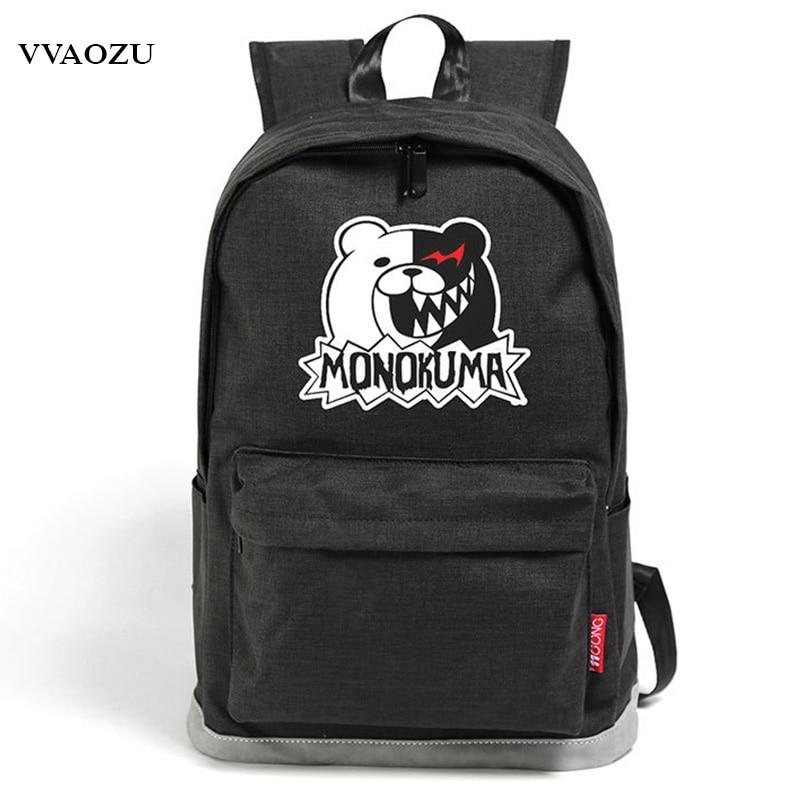 Japan Anime Dangan Ronpa Monokuma Kumamon Shiba Inu Natsume Yuujinchou Fate Zero Black Butler Oxford Schoolbag Backpack Rucksack le fate топ