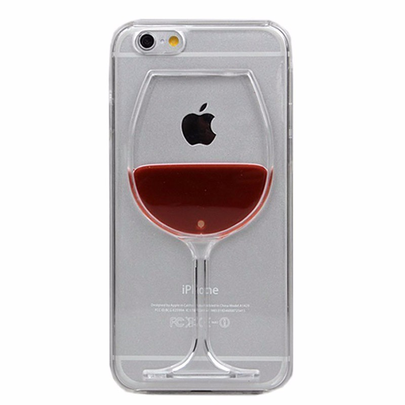 Wine-Beer-Glass-Transparent-Protective-Case-for-iPhone-5-5S-SE-6-6S-Plus-Liquid-Shell