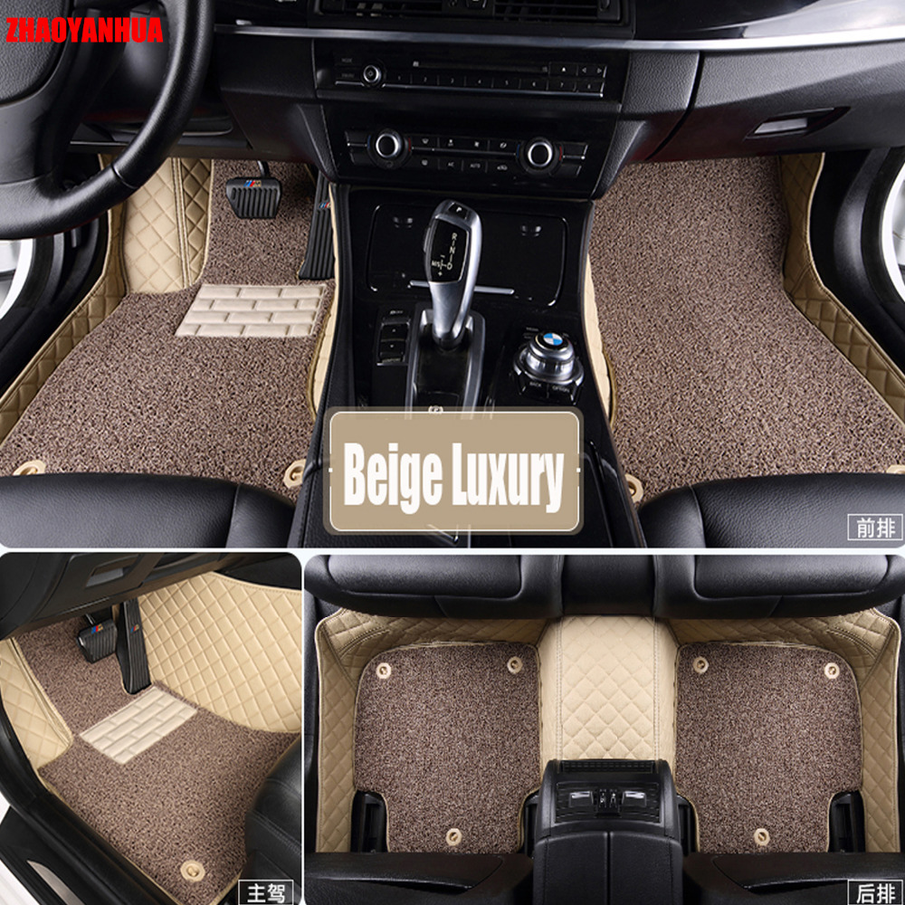 zhaoyanhua car floor mats special for audi a4 b5 b6 b7 b8 allraod avant a3 a6 c6 c7 a7 a8 q3 q5 q7 6d car styling carpet rugs