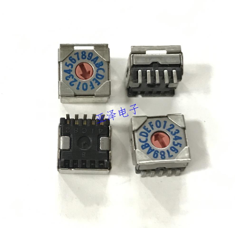 5PCSLOT SMRR7116-1 16 gear 0-F rotary dial switch foot switch 8421C 5