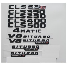 Gloss Black For Mercedes Benz C218 X218 W218 CLS63 CLS63s AMG CLS350 CLS220 CLS400 CLS500 4MATIC Trunk Rear Star Emblems Badges car trimmings black emblem turnk rear sticker body decoration for mercedes benz cls63 cls260 cls350 cls500 w164 w205 w211 w176