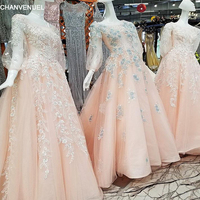 LS00351 Luxury Ever Pretty Evening Dresses Lace Flowers Vestidos De Fiesta Abiti Da Cerimonia Da Sera