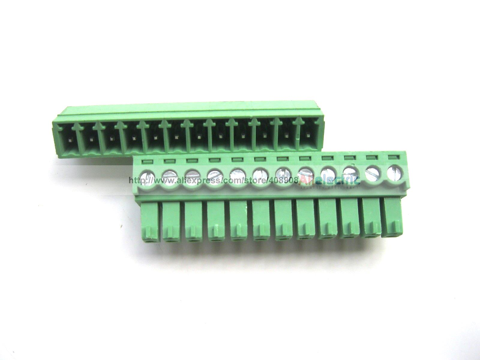 30 Pcs Screw Terminal Block Connector 3.81mm 12 Pin Green Pluggable Type 30 pcs 5 08mm angle 16 pin screw terminal block connector pluggable type green