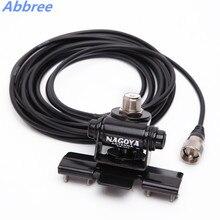 Abbree RB 400 montagem preto/prata antena do carro + 5 m clipe de montagem cabo pl259 so239 conector para walkie talkie rádio do carro móvel