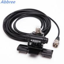 Antena de coche plateado y negro para Walkie Talkie, Cable de montaje de Clip de 5M, conector PL259 SO239 para Radio de coche móvil