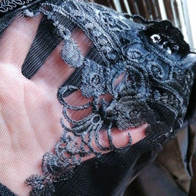 Black Legins Punk Gothic Fashion Women Leggings Sexy PU Leather Stitching Embroidery Hollow Lace Legging For Women Leggins 10