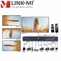 LM TN701 Full HD Video HDMI 1.4, VGA DisplayPort 1.1 HD Video Upscaling Rotary Switcher HDMI 8 In 2 Out for TV 8x2 hdmi plitter