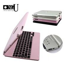 Funda protectora teclado inalámbrico Bluetooth para iPad 2, 3, 4, funda para teclado portátil, soporte, funda inteligente de lujo