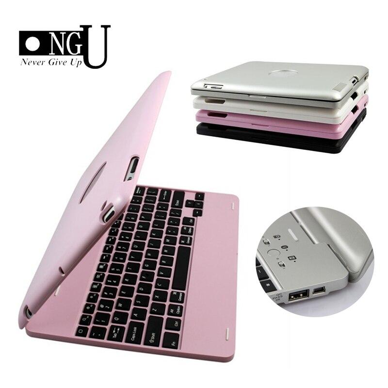 Teclado Bluetooth inalámbrico para iPad 2/3/4 caso cubierta protectora teclado portátil caso para iPad 4 3 2 Soporte de lujo caso