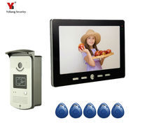 Yobang Security 10″Video Intercom Door Phone System With 1 black Monitor RFID Card Reader HD Doorbell Camera In Stock Wholesale