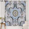 LzL Home New Complex Geometric Pattern Blackout Curtains Luxury Chinese 3d Fabric Curtains Window Decoration For