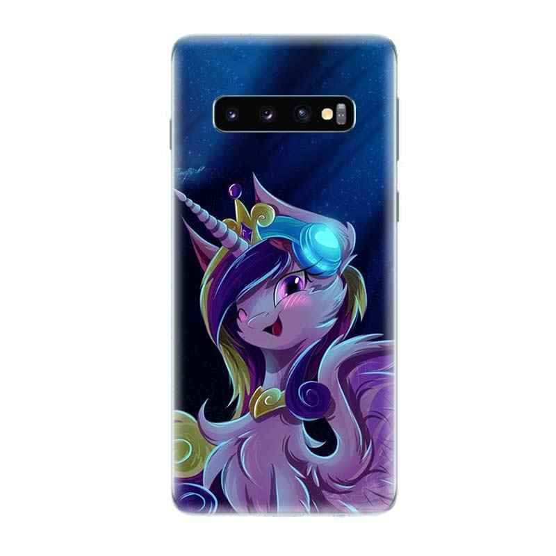 С рисунком из мультфильма «Мой Маленький Пони» стильная облегающая Silicome чехол для телефона для samsung Galaxy S10E S10 S9 S8 Plus Note 9 8 S7 S6 край специализированные задники для крышка